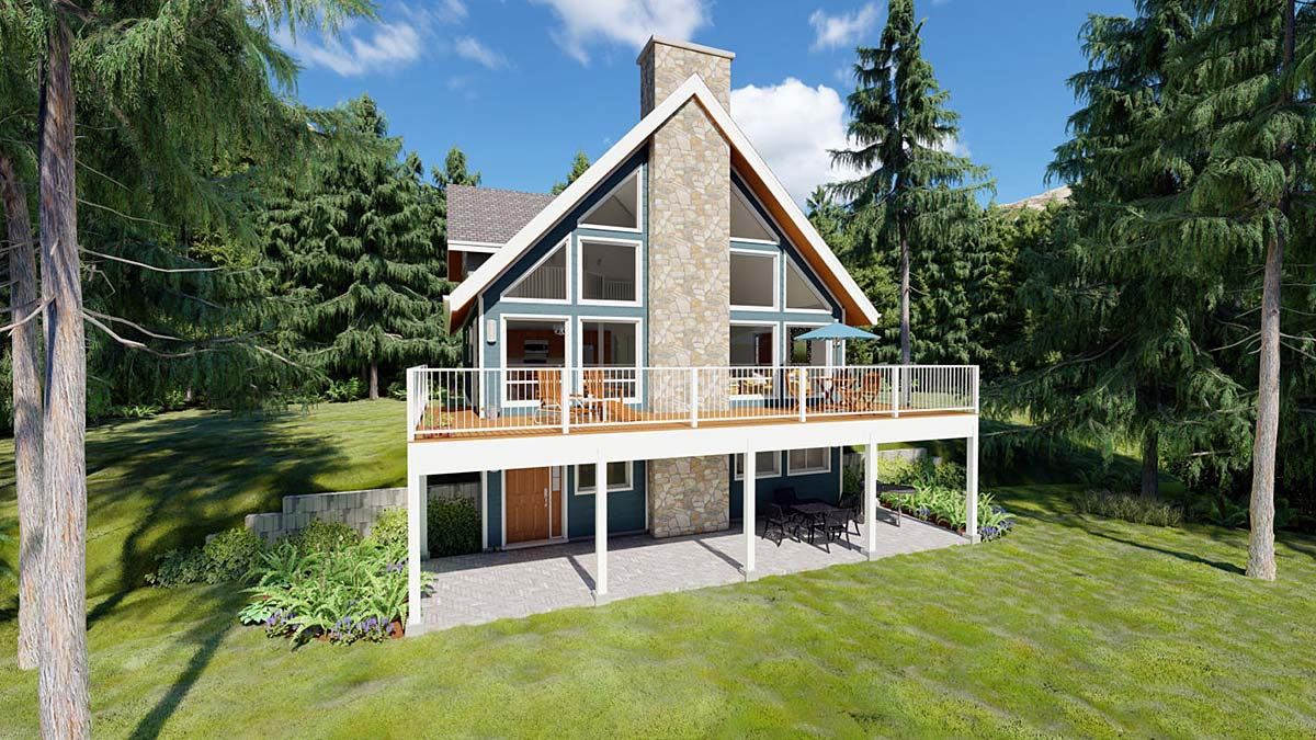 Contemporary, Traditional House Plan 99961 with 3 Beds , 2 Baths Elevation