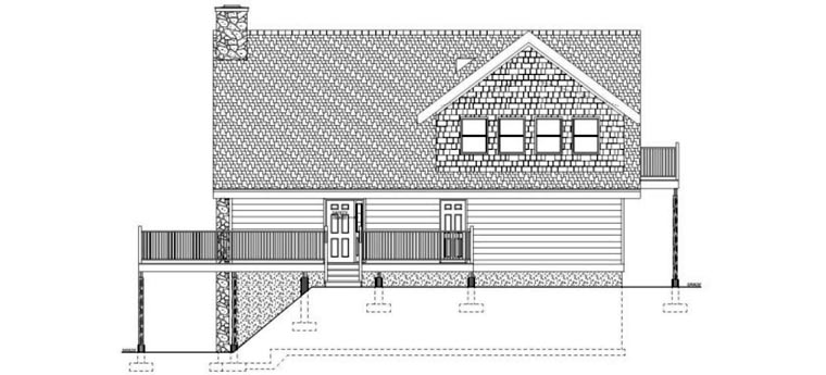 Contemporary, Traditional House Plan 99961 with 3 Beds, 2 Baths Picture 2