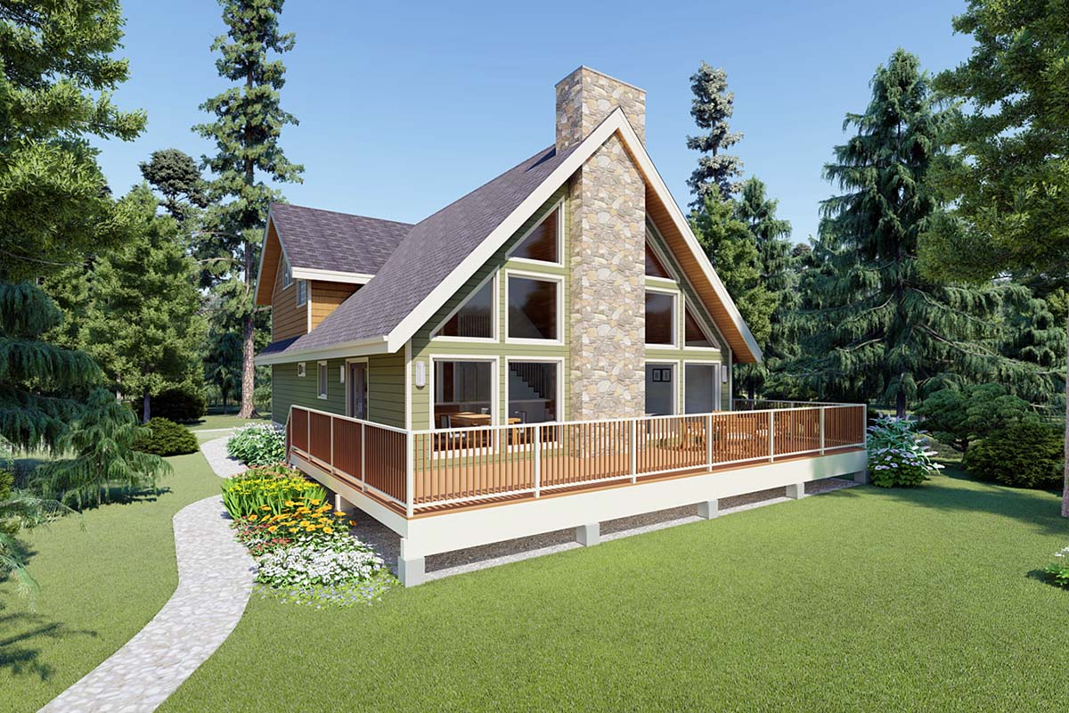 click here to see an even larger picture a frame house plan - A Frame House Plans