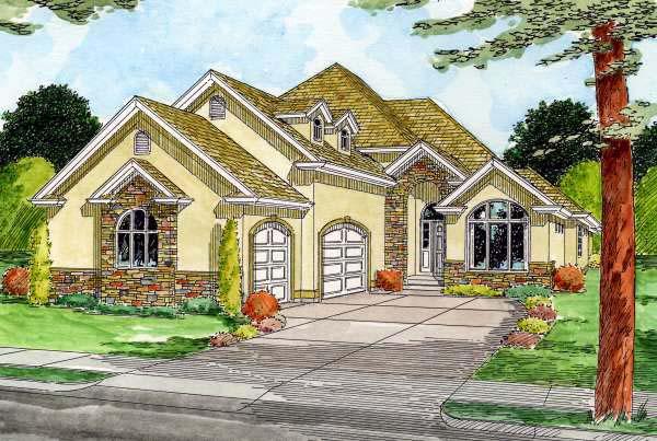 House Plan 99963 Elevation
