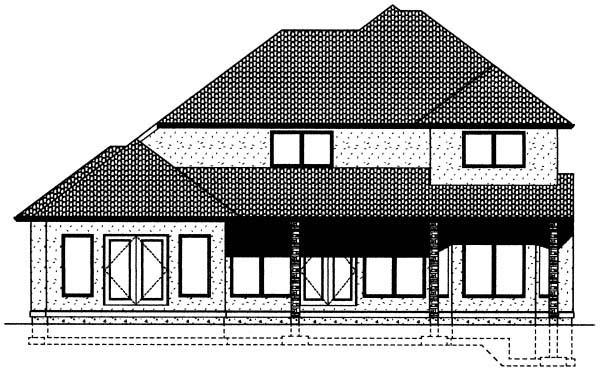 House Plan 99963 Rear Elevation
