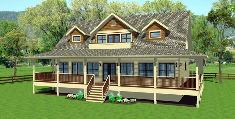 Country House Plan 99964 Elevation