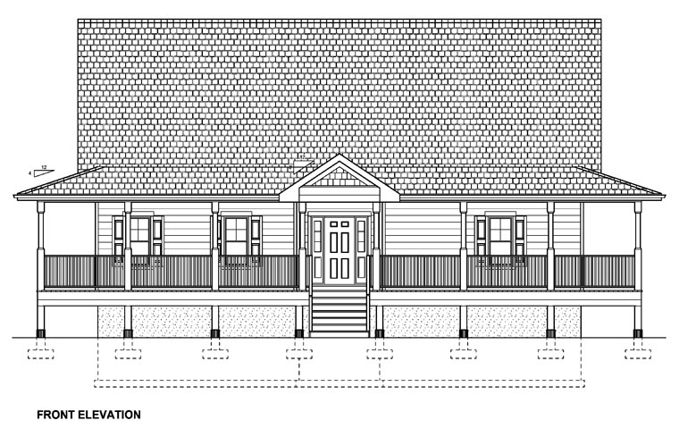 Country House Plan 99964 with 3 Beds, 4 Baths Picture 3