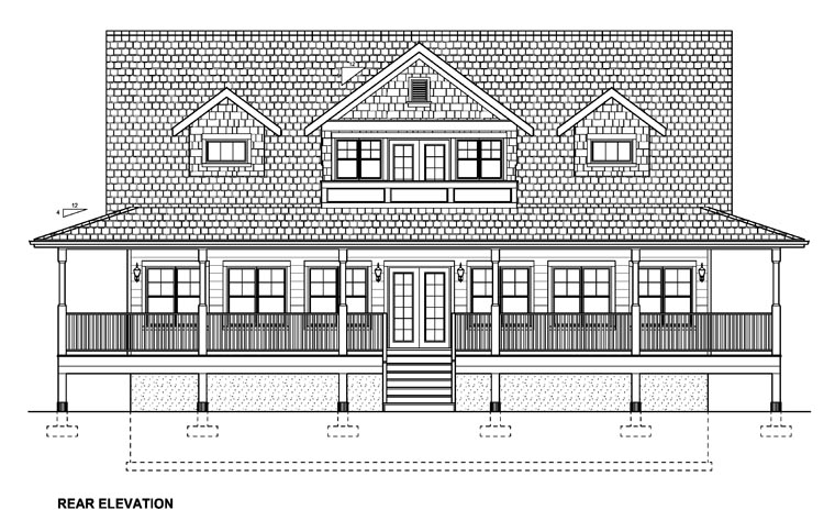 Country House Plan 99964 Rear Elevation