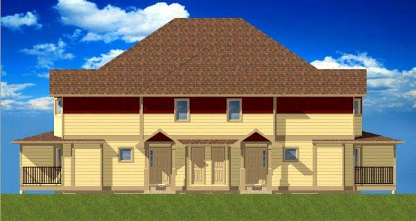 Multi-Family Plan 99966 with 12 Beds, 8 Baths Picture 1