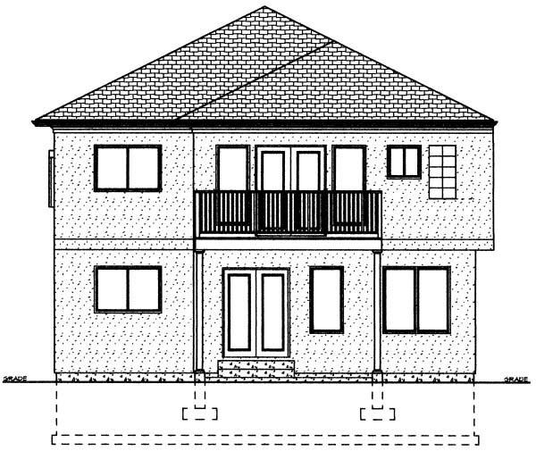 Florida House Plan 99967 Rear Elevation