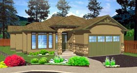 Ranch House Plan 99968 Elevation