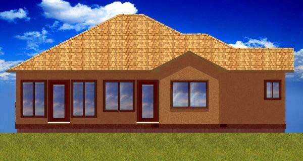 Ranch House Plan 99968 Rear Elevation
