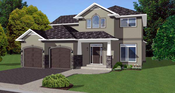 House Plan 99969 Elevation