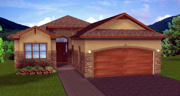 House Plan 99970 Elevation
