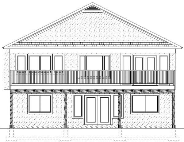 House Plan 99970 Rear Elevation