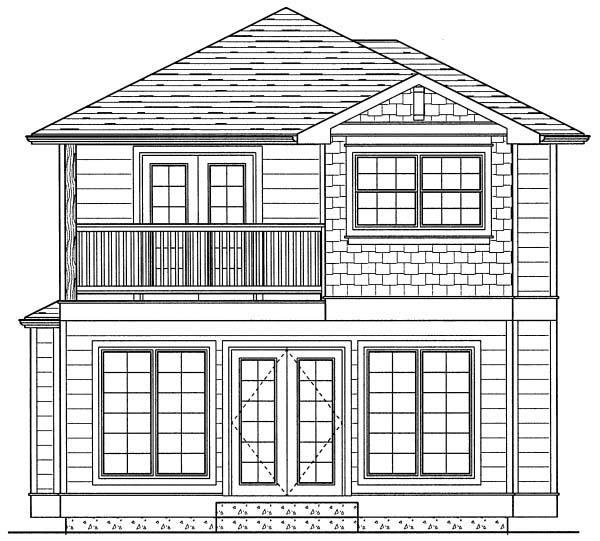 Craftsman House Plan 99972 Rear Elevation