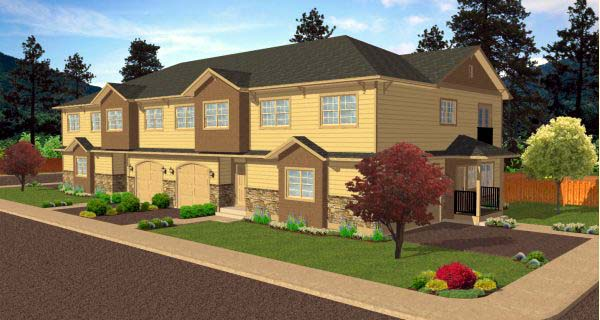 Multi-Family Plan 99973 Elevation