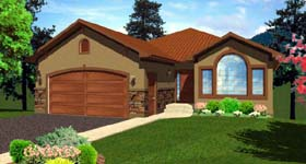 House Plan 99974 Elevation