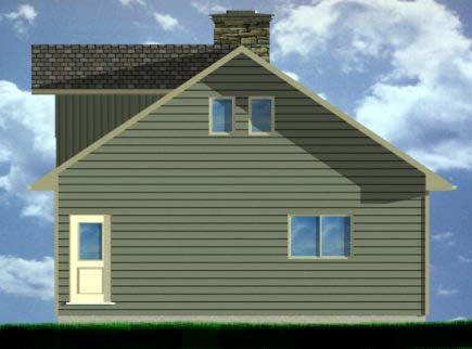 A-Frame House Plan 99975 with 3 Beds, 2 Baths, 1 Car Garage Rear Elevation