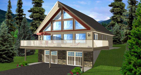A-Frame House Plan 99976 Elevation