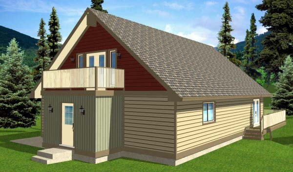 A-Frame House Plan 99976 with 4 Beds, 3 Baths, 2 Car Garage Picture 2