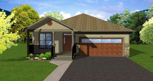 Craftsman House Plan 99978 with 2 Beds, 2 Baths, 2 Car Garage Elevation