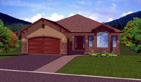 Ranch House Plan 99980 Elevation