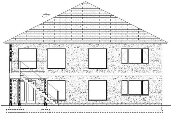 Ranch House Plan 99980 Rear Elevation