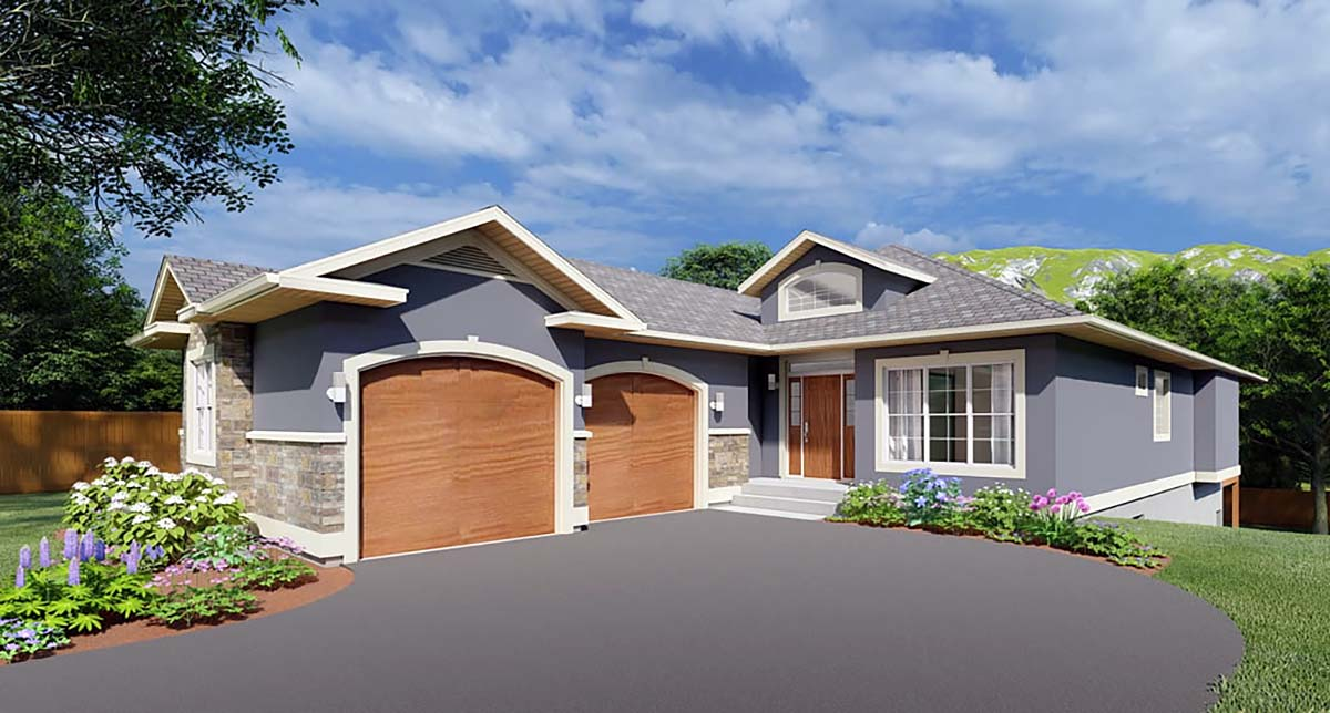 House Plan 99981 with 3 Beds, 4 Baths, 2 Car Garage Elevation