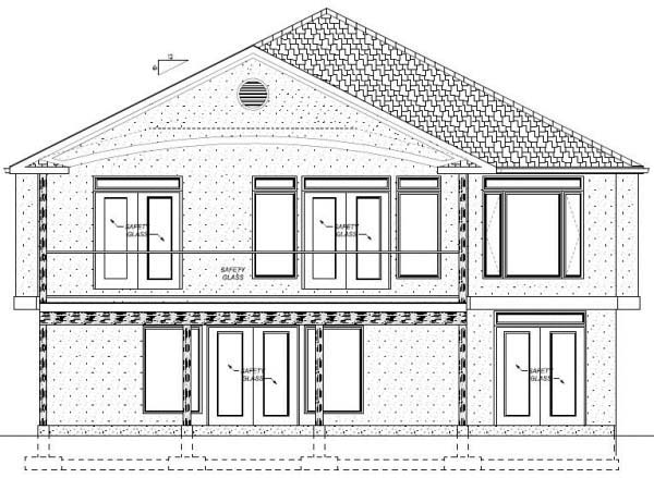House Plan 99981 Rear Elevation