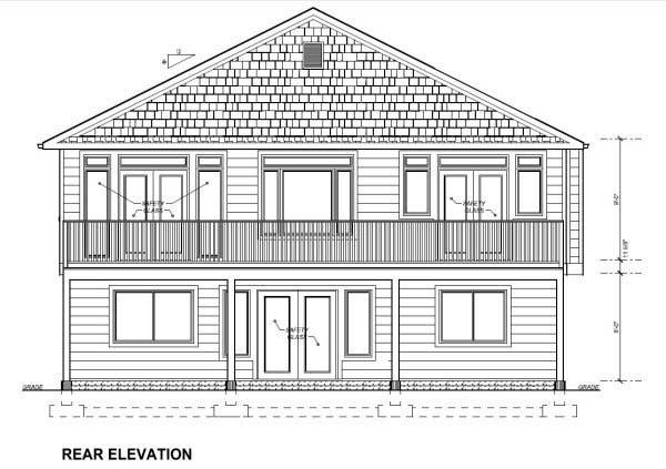 Craftsman House Plan 99982 Rear Elevation