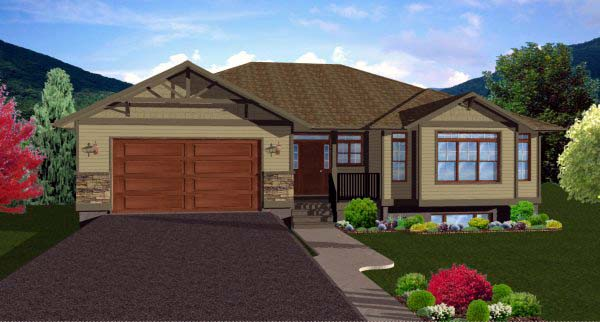 Craftsman Ranch House Plan 99984 Elevation