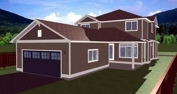 House Plan 99985 Rear Elevation