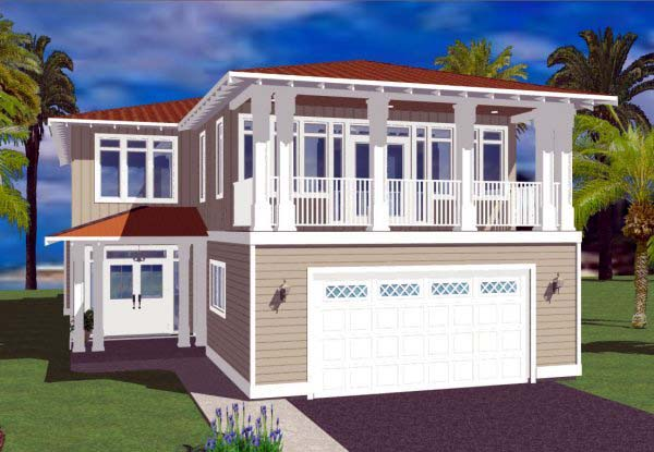 House Plan 99987 Elevation
