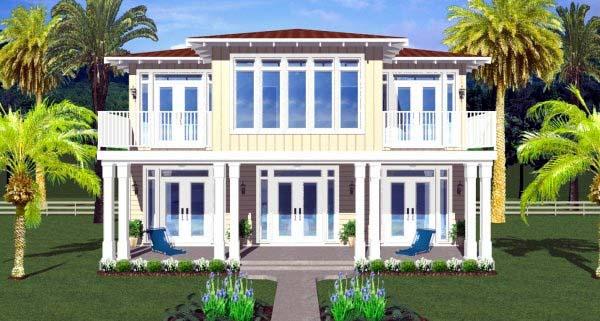 House Plan 99987 Rear Elevation