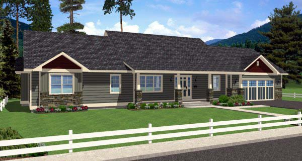 Country Ranch Elevation of Plan 99989