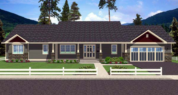 Country, Ranch House Plan 99989 with 2 Beds, 3 Baths, 2 Car Garage Picture 2