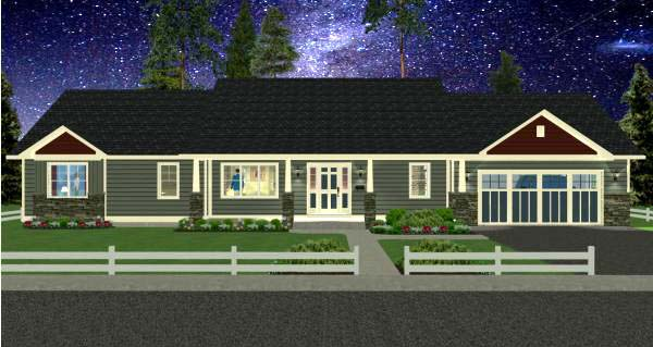Country, Ranch House Plan 99989 with 2 Beds, 3 Baths, 2 Car Garage Picture 3