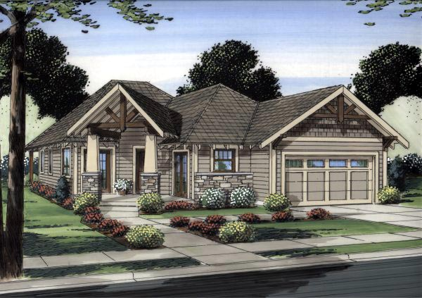 Traditional House Plan 99991 with 3 Beds, 2 Baths, 2 Car Garage Elevation
