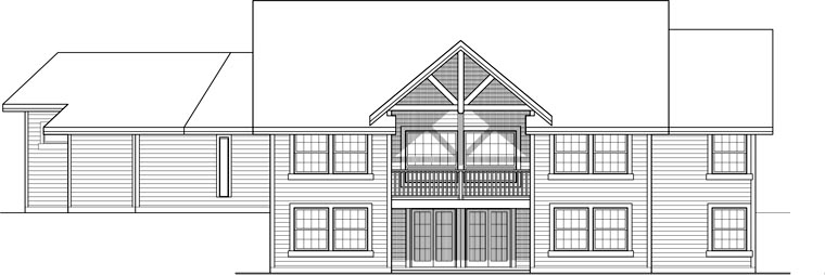 House Plan 99992 Rear Elevation