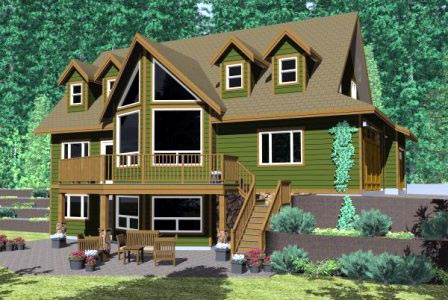 Country House Plan 99994 with 3 Beds, 3 Baths, 3 Car Garage Elevation