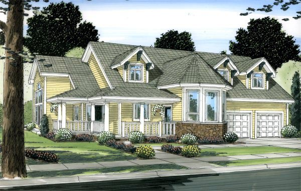 Victorian House Plan 99995 Elevation