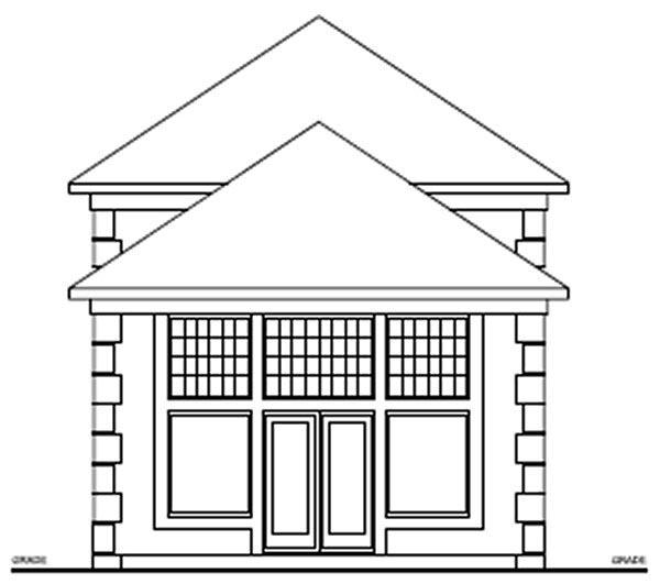 Florida House Plan 99997 Rear Elevation