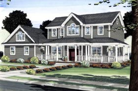 Colonial House Plan 99998 Elevation