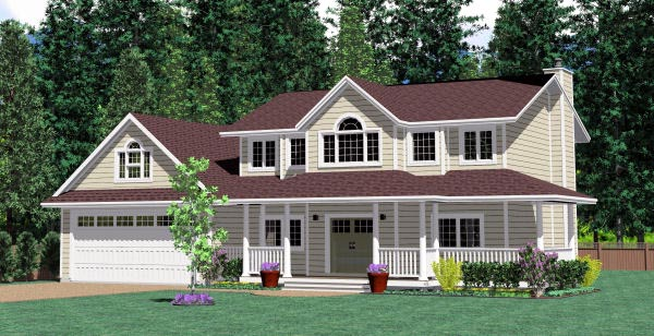 Colonial House Plan 99999 Elevation