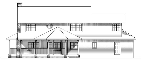Colonial House Plan 99999 Rear Elevation