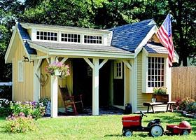 Pretty Porch Shed