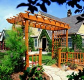 Welcoming Arbor and Fence
