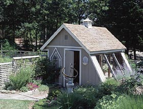 Greenhouse-Style Garden Shed - Project Plan 503499