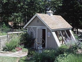 Greenhouse-Style Garden Shed