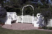 Picket Fence, Arbor and Benches