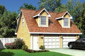 24'X 28' Cape Cod Apartment Garage - Project Plan 6016