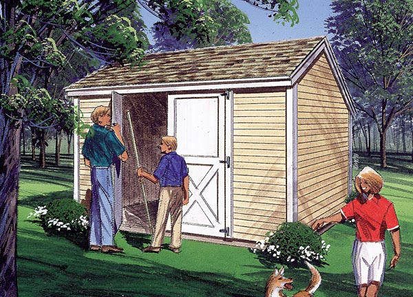 85900 - Salt Box Storage Sheds
