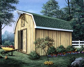 Barn Storage Shed with Loft - Project Plan 85901